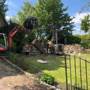 bronboring in een achtertuin uitgevoerd door Albreco