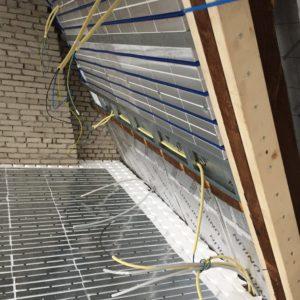 Vloerverwarming en wandverwarming in combinatie met warmtepomp
