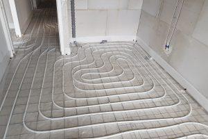 Vloerverwarming in opdracht van Albreco aangelegd