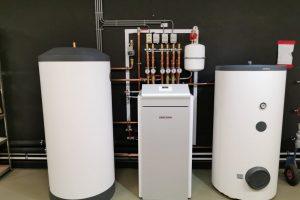Stiebel Eltron warmtepomp met buffervat en boiler